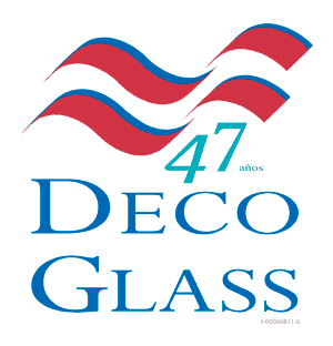 Deco Glass logo aniversario
