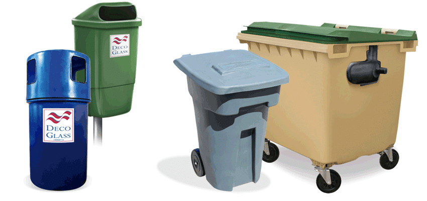 línea sanitaria de papeleras y contenedores