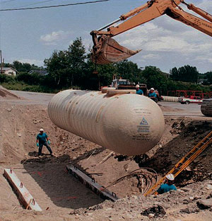 instalación de tanque subterráneo